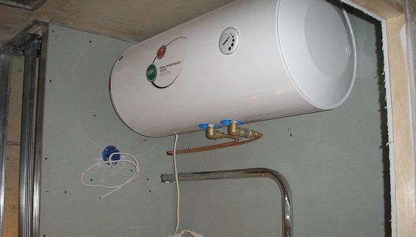 как повесить водонагреватель на гипсокартон