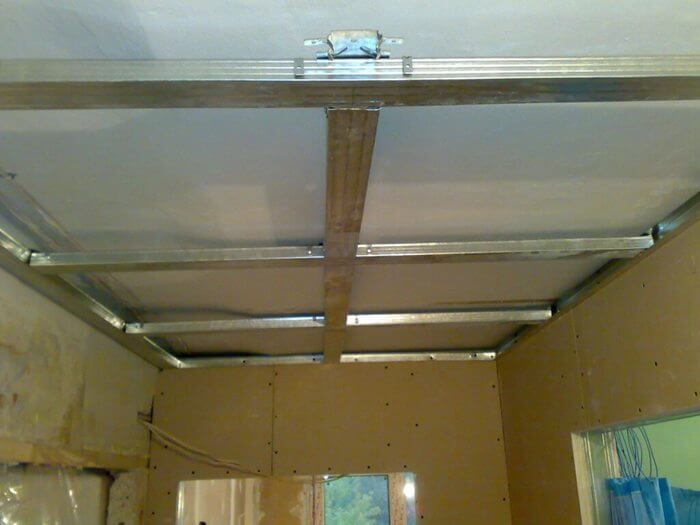 минимальная высота потолка из гипсокартона
