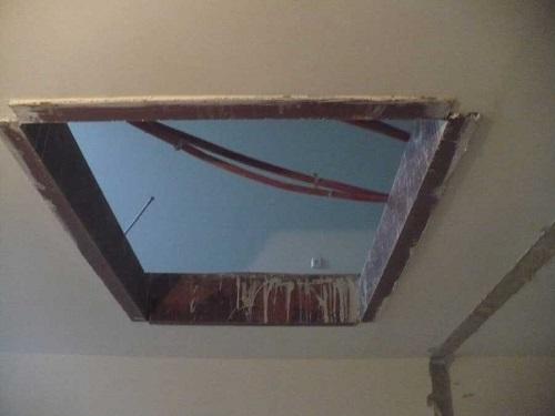 демонтаж проходов для лестниц в потолке