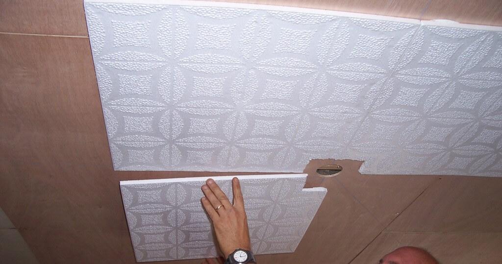 ремонт трещины на потолке