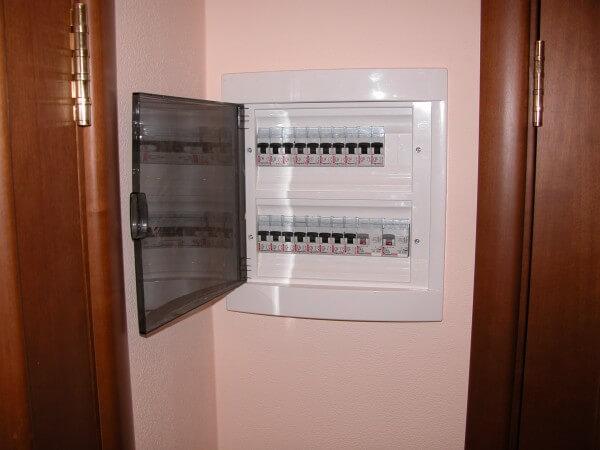 установка электрощита в гипсокартон