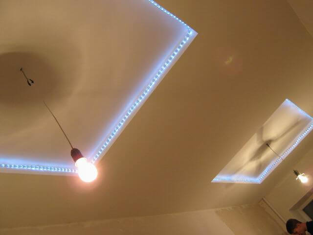 идеи подвесных потолков из гипсокартона