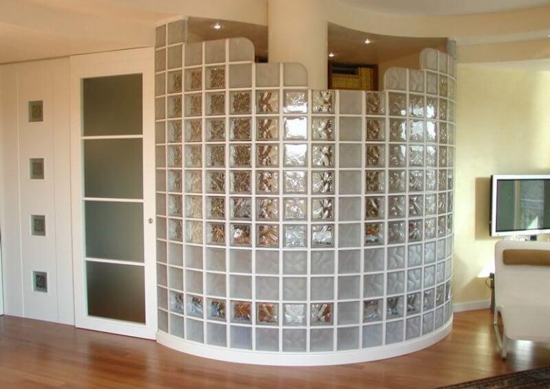 стеклоблоки в интерьере