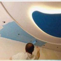 Чем можно покрасить потолок из гипсокартона
