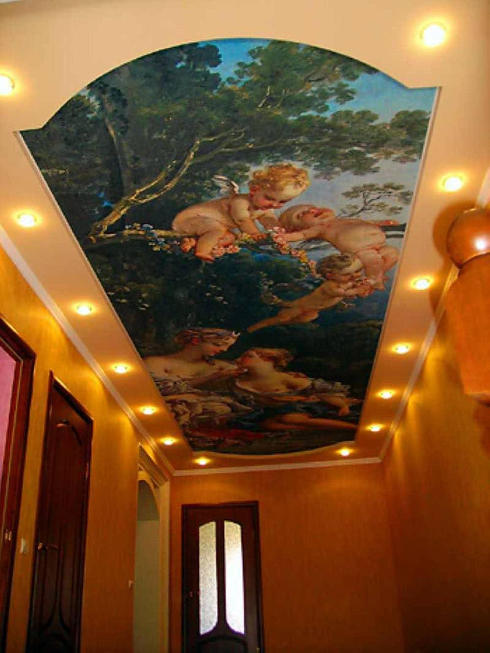 комбинированный потолок гипсокартон и натяжной